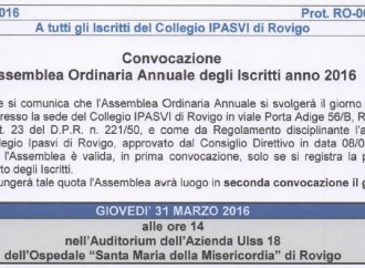 Assemblea Annuale degli Iscritti anno 2016