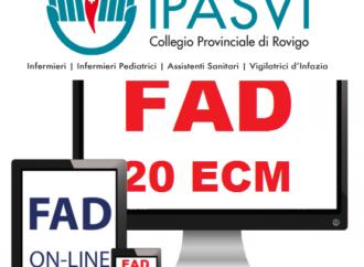 Corsi FAD gratuiti per gli iscritti IPASVI Rovigo – 20crediti ECM