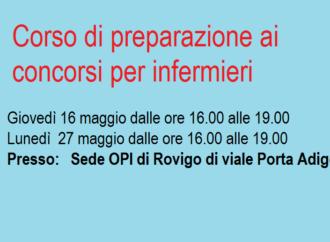 CORSO DI PREPARAZIONE AI CONCORSI PER INFERMIERI -Prima edizione.