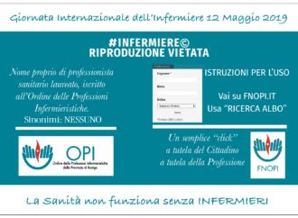 Eventi realizzati in occasione della Giornata Internazionale dell'Infermiere 2019
