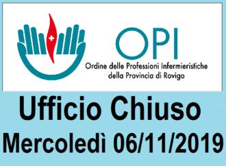 UFFICIO CHIUSO il 06/11/2019