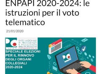 Speciale elezioni ENPAPI 2020-2024: le istruzioni per il voto telematico dalle 10.00 del 27 gennaio 2020 alle ore 16.00 del giorno 29 gennaio 2020.